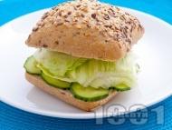 Сандвич с гъши пастет и айсберг